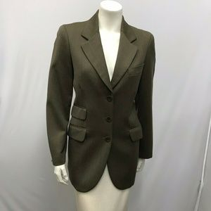 Cheap and Chic Moschino Jacket Olive Green Size 8